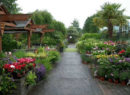 Садовые дорожки, устроенные в регулярном стиле.