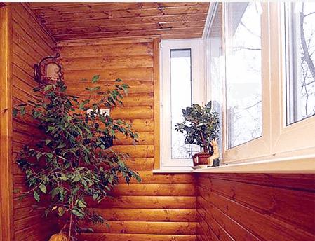 В результате облицовки блок хаусом получается безупречный результат, гарантирующий натуральный вид помещения.