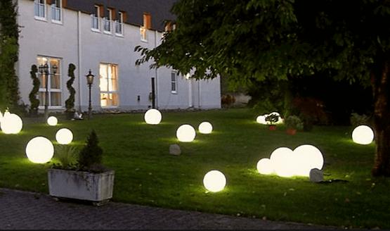 Ансамбль из сферических светильников