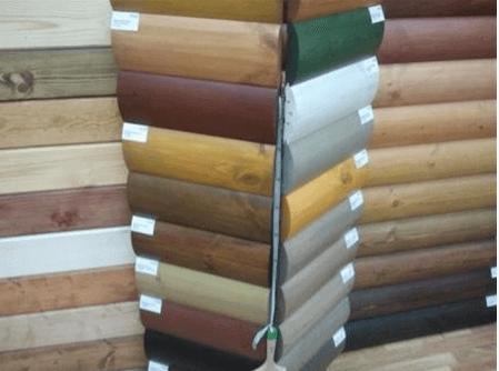 Многообразие расцветок блок хауса