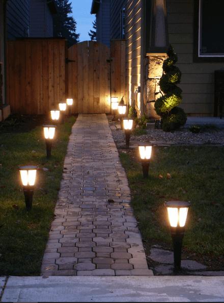 Светильники для дорожек.