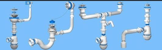 Внешний вид канализационного сифона