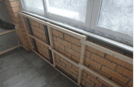 Изготовление обрешетки для монтажа блок хауса на стены балкона.