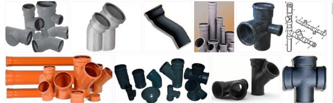 Трубы и фасонные части для канализации