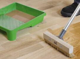 отделка деревянного пола маслом