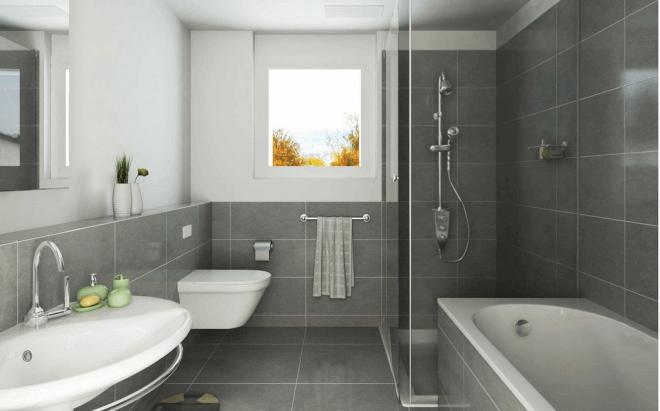 Вариант качественного ремонта в ванной комнате