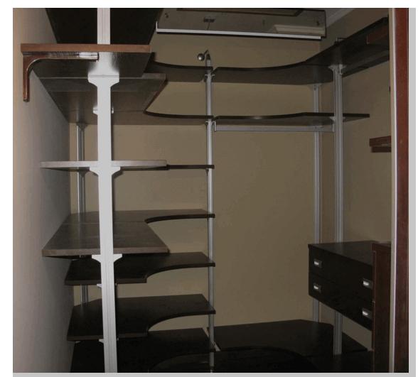 Заполнение гардеробной готовыми конструкциями