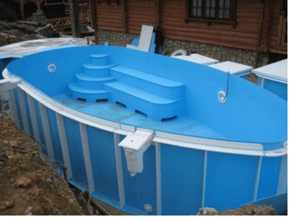 Сварной полипропиленовый бассейн