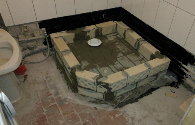 Схема устройства одного из вариантов поддона под душ