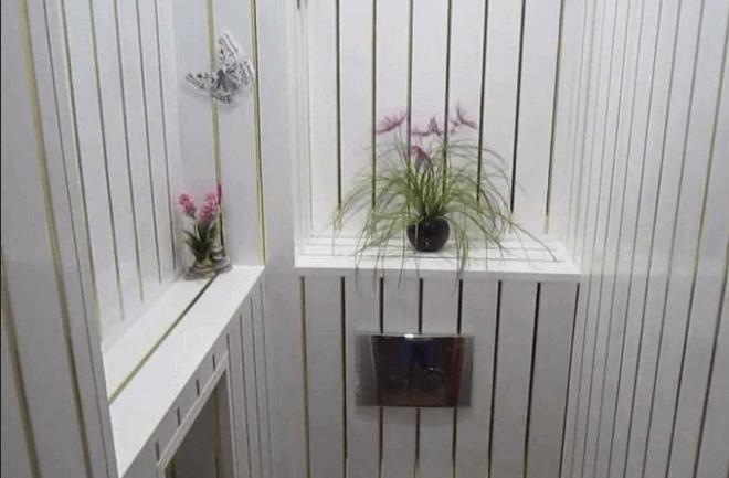 Так элегантно может выглядеть туалет, облицованный панелями из поливинилхлорида