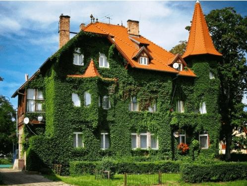 Озелененный фасад коттеджа