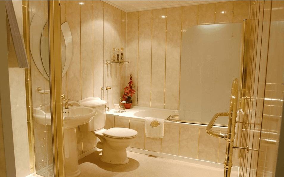 ванная комната отделка пластиковыми панелями дизайн фото #10