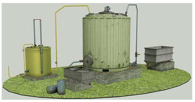 Самодельная установка для производства биотоплива из навоза