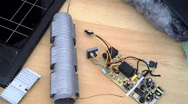 Так может выглядеть самодельное индукционное устройство
