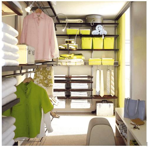 Вариант внутреннего заполнения пространства гардеробной комнаты