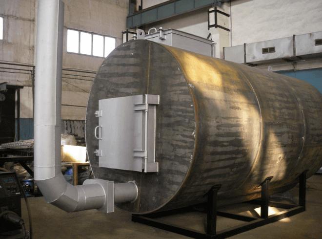 Установка для производства древесного угля в промышленных масштабах