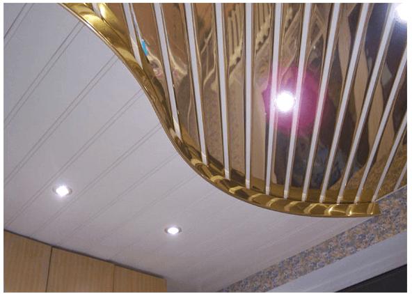 Алюминиевый потолок выглядит красиво и презентабельно