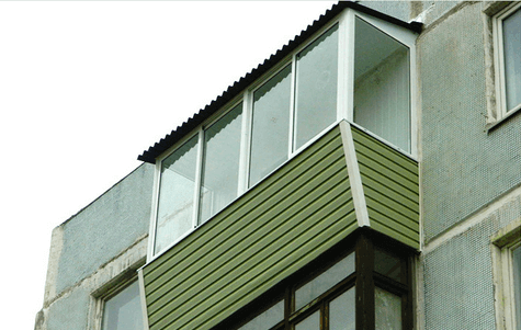Выносной балкон на последнем этаже