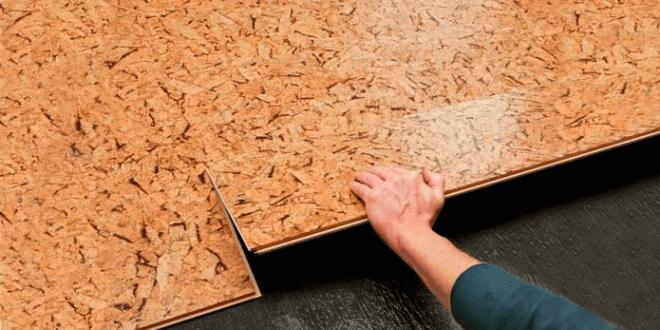 Процесс укладки пробкового покрытия
