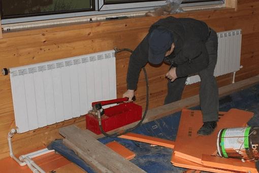 Опрессовка является обязательной процедурой для запуска гидравлической системы отопления