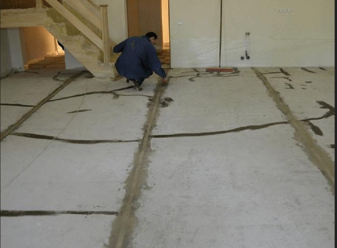 Так должно выглядеть основание под заливку бетонного пола