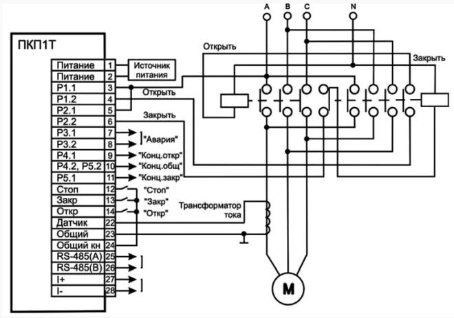 Электрическая схема электропривода