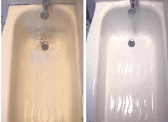 Ванна, реставрированная акрилом – состояние новой