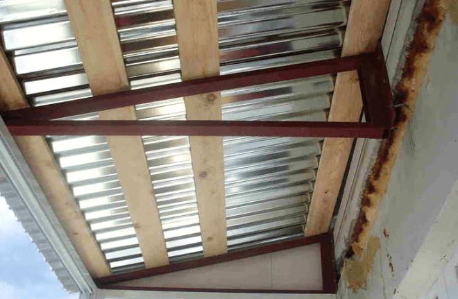 Крыша-козырек для балкона