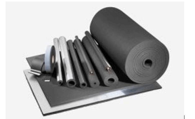 Вспененный синтетический каучук для утепления трубопровода