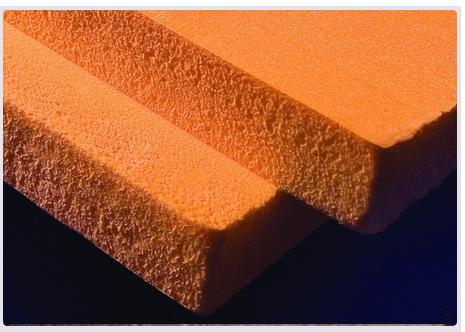 Благодаря использованию порофоров, получающиеся плиты утеплителя имеют пористую структуру