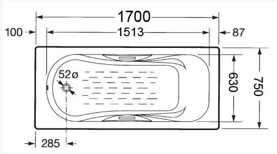 Схема снятия геометрических размеров эмалированной ванны