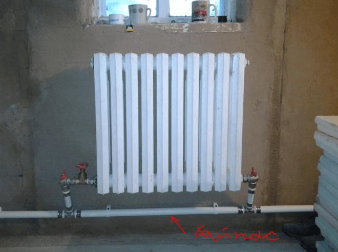 Байпас на однотрубной системе отопления