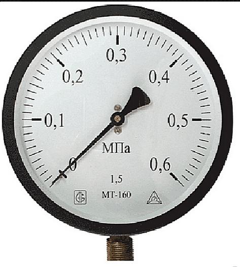 Манометр имеет параметры и шкалу, которая отвечает необходимым требованиям