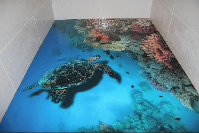 Наливной 3D пол – настоящее произведение искусства