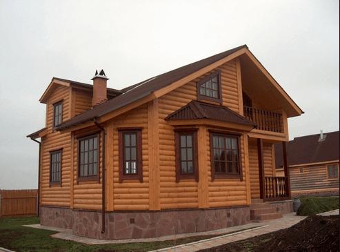 Блок хаус на фасаде дома