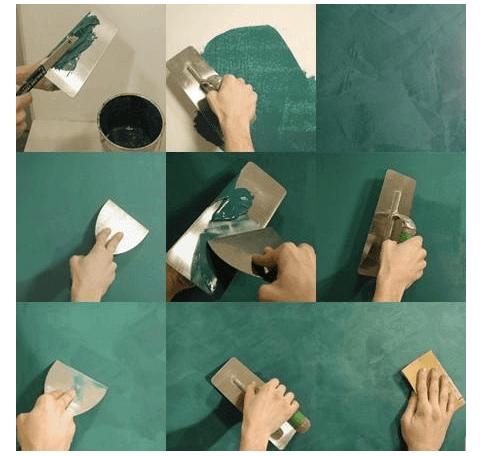 Технология нанесения смеси на стены