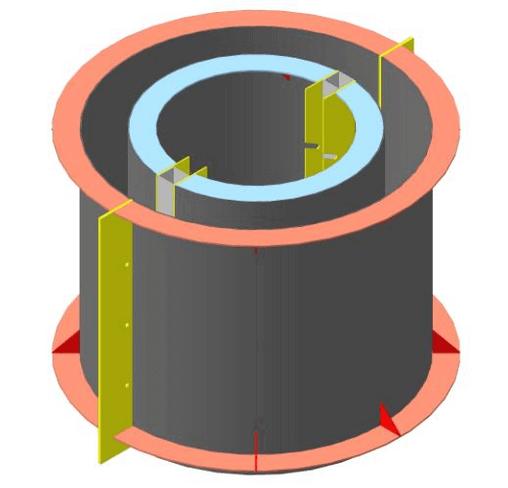 Отливочная форма для изготовления бетонных колец