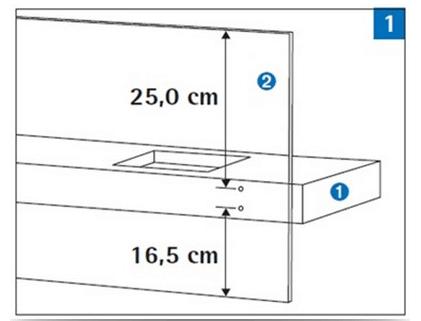 Примерный способ крепления и размеры стекла