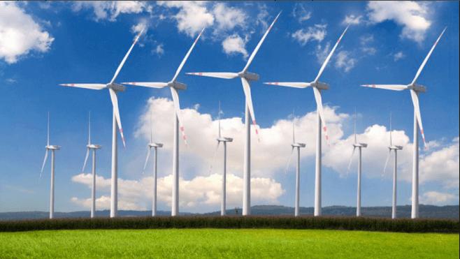 Современная ветряная электростанция