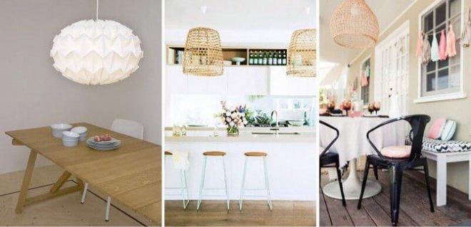 точечные светильники для натяжных потолков на кухне