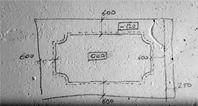 Схема как сделать потолок из гипсокартона с подсветкой