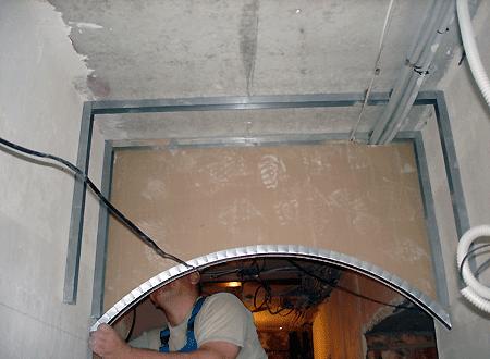 Как сделать арку в проеме из гипсокартона