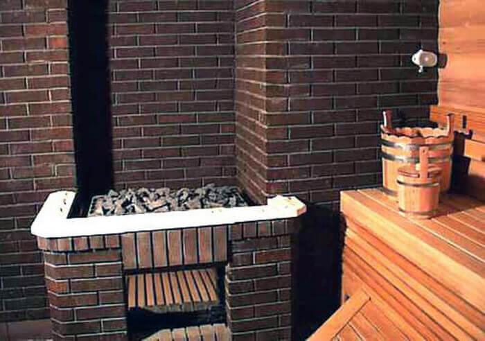 Кирпичная стена своими руками в бане