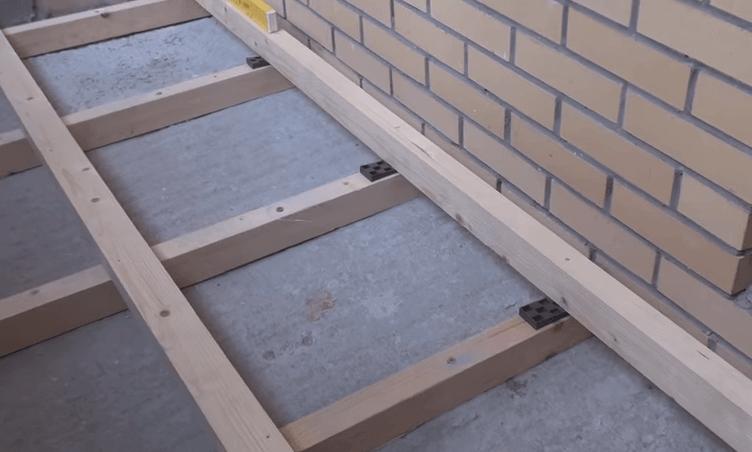 Как сделать пол балкона видео