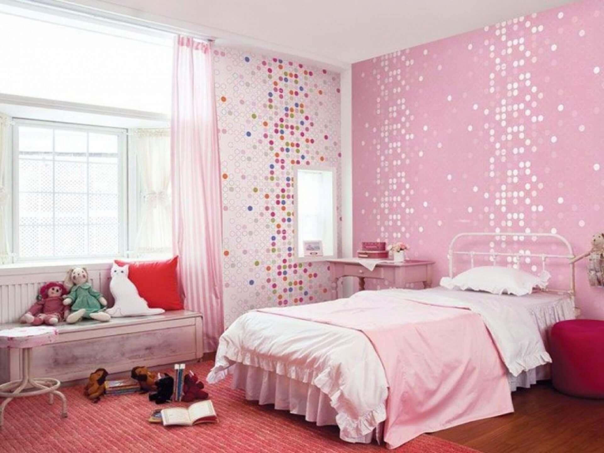 Обои для детской спальни каталог фото в интерьере светлые тона