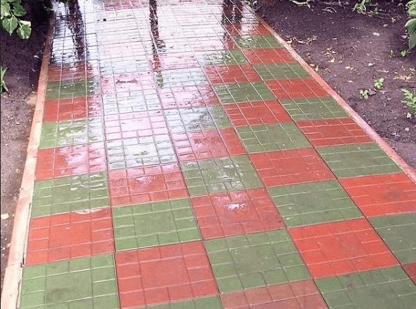 Тротуарная полимерная плитка своими руками 602
