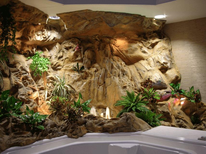 Как сделать стену с водопадом видео